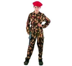 Карнавален костюм - Командос - червена барета