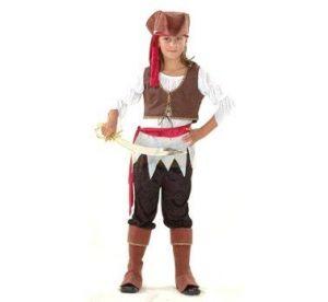 Карнавален костюм - Пиратка-велур