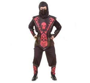 Карнавален костюм - Нинджа - черно и червено