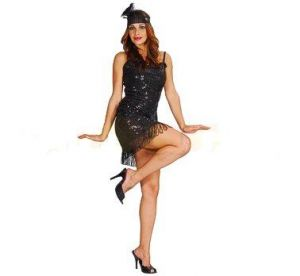 Карнавален костюм - Ретро дама-черна