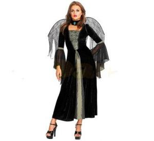 Карнавален костюм - Жена паяк-сребриста