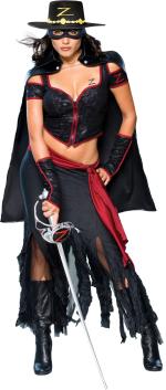 Карнавален костюм - Жена Зоро 2