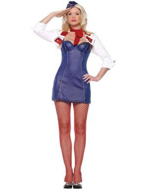Карнавален костюм - Стюардеса 2