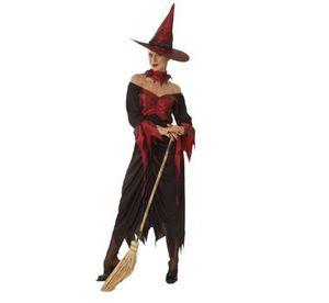Карнавален костюм - Вещица-червена