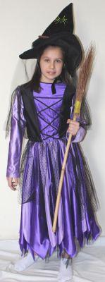 Вещица - лилаво и черно на ленти