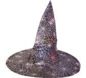 Карнавален аксесоар - Хелоуинска  шапка с паяжина